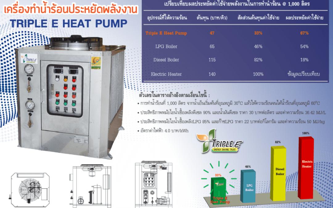 ฮีทปั๊ม Triple E Heat Pump – ประหยัดต้นทุนมากกว่าฮีทเตอร์ไฟฟ้า 70-75%