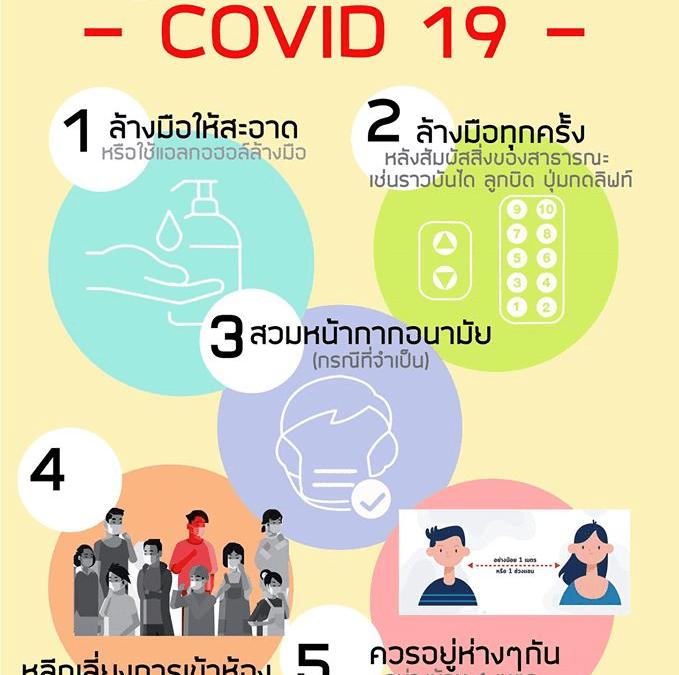 แนะนำ 5 วิธีป้องกันตนเองจาก COVID-19